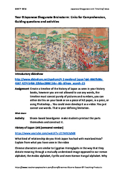FREE Japan Under the Shoguns: links, questions, Activity,