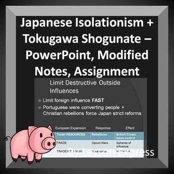 Japanese Isolationism, Tokugawa Shogunate -- PowerPoint, N