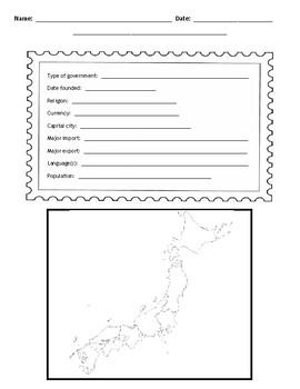 Japanese Provinces Postcard Template