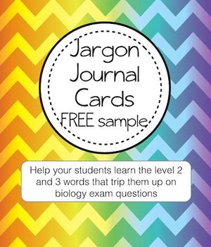 Literacy Help Jargon Journal Sample FREE card (term: Superior)