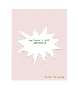 Jary's Uno en un millón: Spanish cloze activity