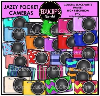 Jazzy Pocket Cameras Clip Art Bundle