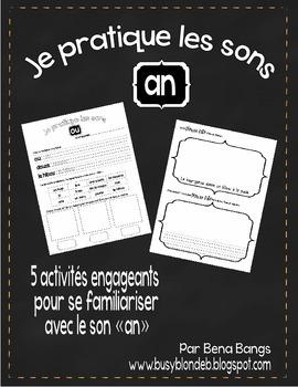 """{Je Pratique les Sons - """"AN""""} Activités de langage pour pr"""
