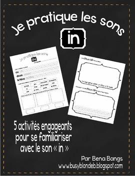 """{Je Pratique les Sons - """"IN""""} Activités de langage pour pr"""