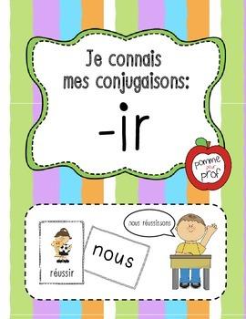 Je connais mes conjugaisons - terminaisons 'ir' (French Ve