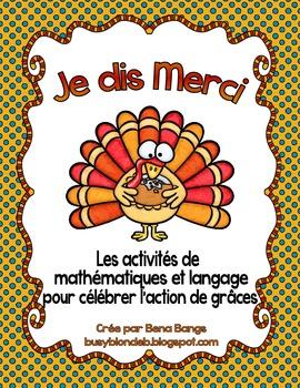{Je dis Merci!} Activités de math et langage pour célébrer