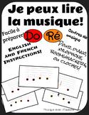 Je peux lire la musique! (I can read music!) Ré