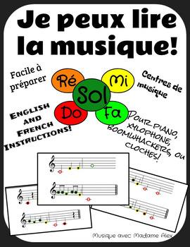 Je peux lire la musique (I can read music) SOL