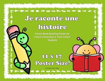 Je raconte une histoire - French Book Retelling Poster (11x17)