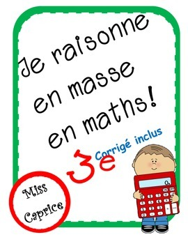 Je raisonne en masse en maths