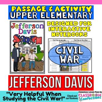 Jefferson Davis Biography Reading Passage: Interactive Not