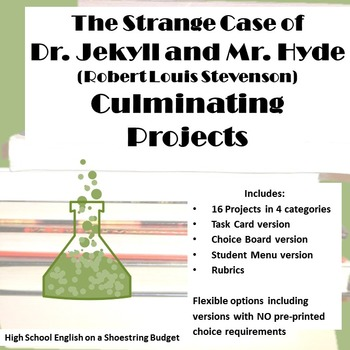 Jekyll and Hyde Culminating Projects Differentiation Task