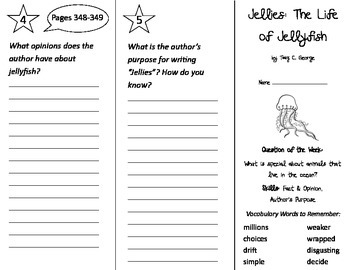 Jellies - The Life of Jellyfish Trifold - Journeys 2nd Gr