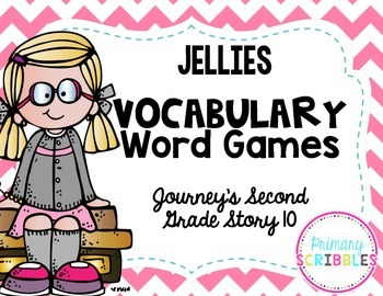 Jellies Vocabulary Word Games~ Goes with Journeys Second G