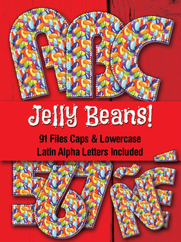 Jelly Bean Alphabet - 91 Files - Latin Letters - PDF - PNG