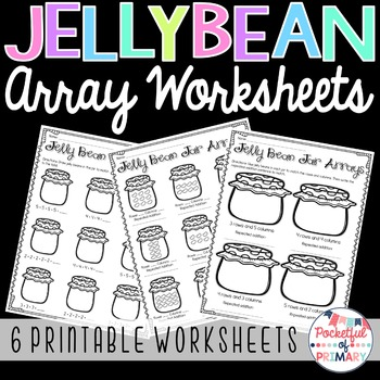 Jelly Bean Jar Arrays WORKSHEETS - 2.OA.4