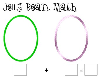 Jelly Bean Math- Beginning Addition Practice