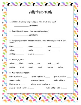 Jelly Bean Math for Easter