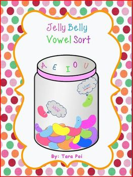 Jelly Belly Vowel Sort - Master packet - A, E, I, O, and U