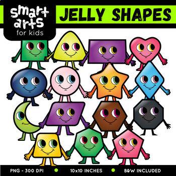 Jelly Shapes Digital Clipart Set