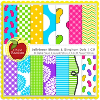 Jellybean Blooms & Gingham Dots {CU}