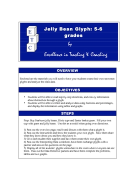 Jellybean Glyph + Data Analysis with Fractions and Graphs!