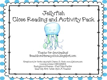 Jellyfish - Close Reading and Activity Pack