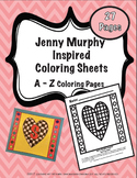 Jenny Murphy Inspired Heart Coloring Pages