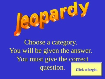 Jeopardy Game of Technology Knowledge