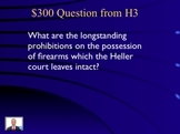 Jeopardy Law Game HELLER v. DISTRICT Second Amendment Guns