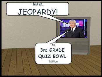 Jeopardy Math Quiz Bowl Game, Grade 3