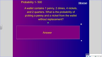 Jeopardy Math SOL 6.16, 6.19, 6.20 Review
