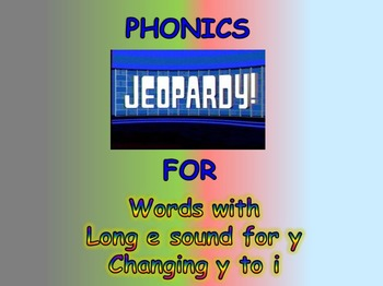 """Journeys 2nd Lesson 18 Jeopardy Phonics PPT for """"My Name i"""