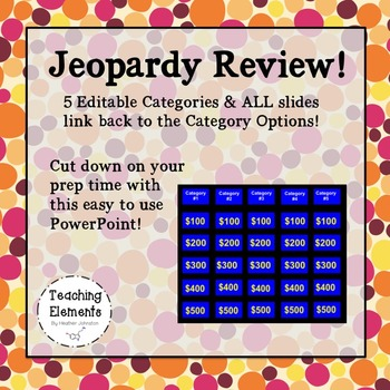 Jeopardy Review - Editable!