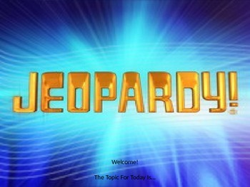 Jeopardy Review Game: Conserving Resources