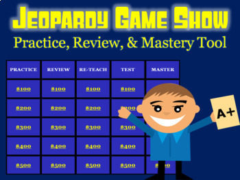Jeopardy Review Game: Physical Science Unit on Light