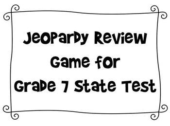 Jeopardy Review Game for Grade 7 NYS Test