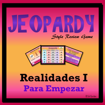 Jeopardy Review - Realidades 1, Preliminary Chapter - Basi