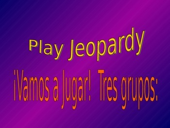 Jeopardy! Spanish:  Sports and Stem changing verbs