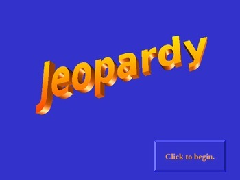 Jeopardy: The French Revolution