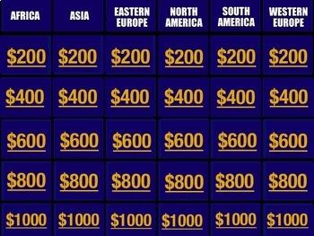 Jeopardy - World Capitals