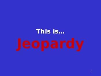 Jeopardy to review KU sentence writing