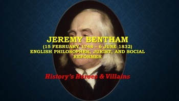 Jeremy Bentham: English philosopher, jurist, and social reformer