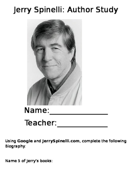 Jerry Spinelli Author Study-Editable