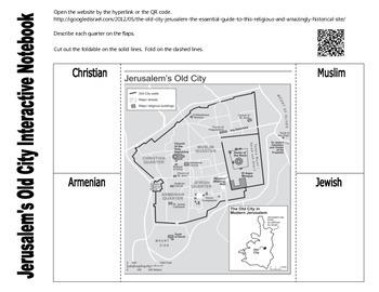 Jerusalem's Old City Interactive Notebook Activity