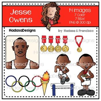 Jesse Owens Clip Art Set