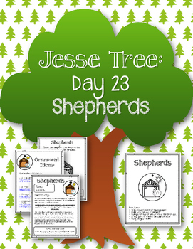 Jesse Tree. Day 23. Shepherds. Christmas Advent