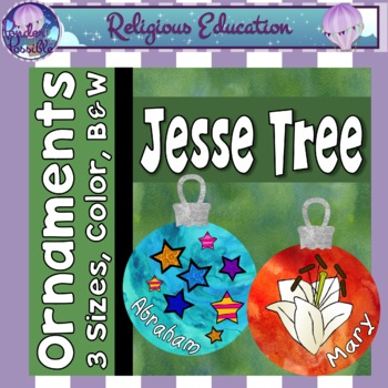 Jesse Tree Ornaments ~ Jesus, Mary, Moses and more (3 sizes)