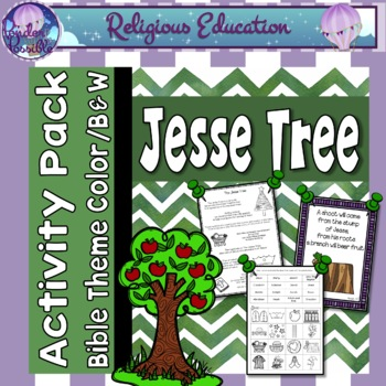 Jesse Tree Advent Worksheets ~ Scripture Reflections, Acti