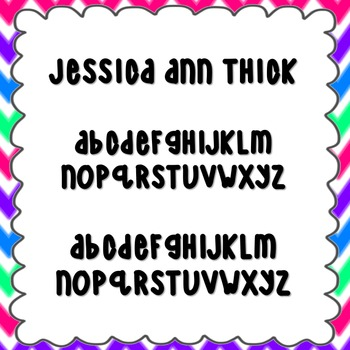 Jessica Ann Thick Font {personal and commercial use; no li